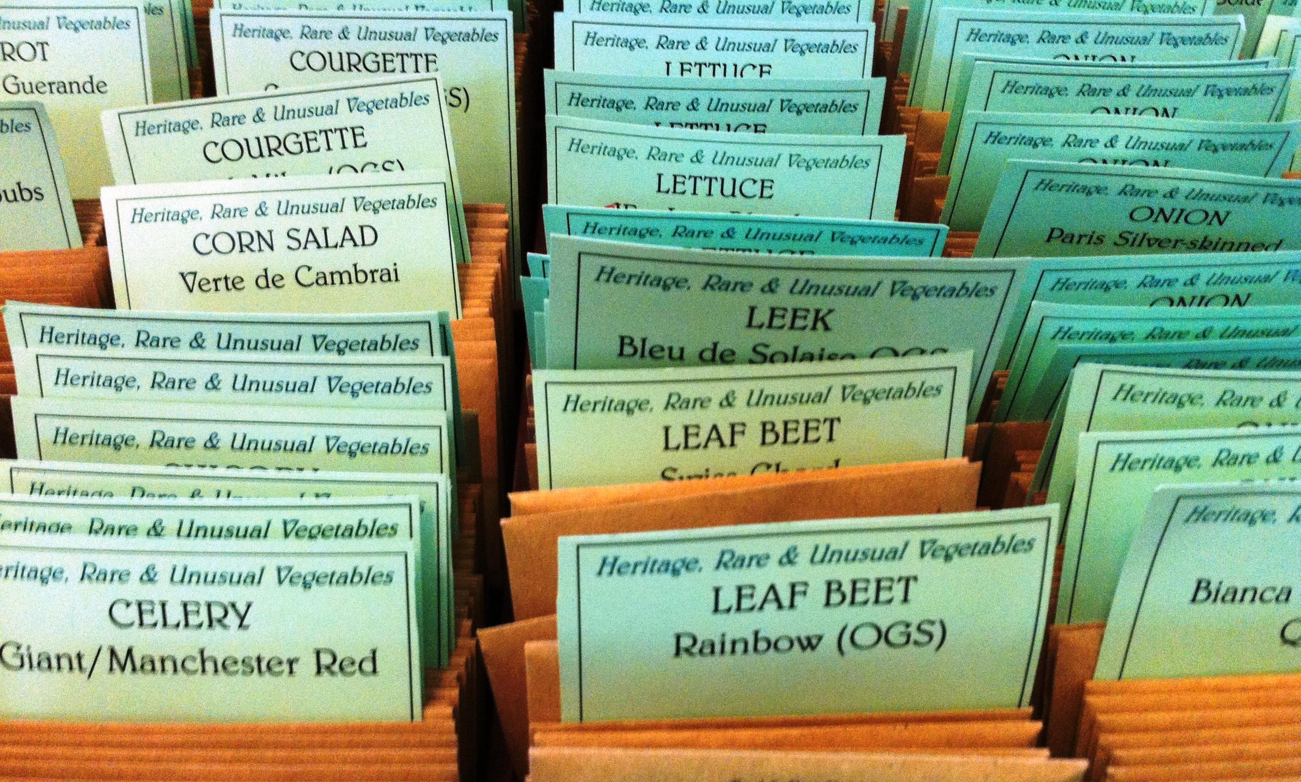 Heritage seeds, thomas Etty, gardeners in Lewes, seedy saturday