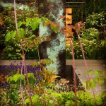 Patinated Copper archway - RHS Chelsea flower show 2014
